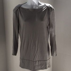 Mossimo Long Sleeve Light Grey Tunic Top